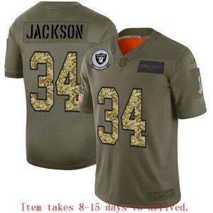 Oakland Raiders Bo Jackson Jersey Camo